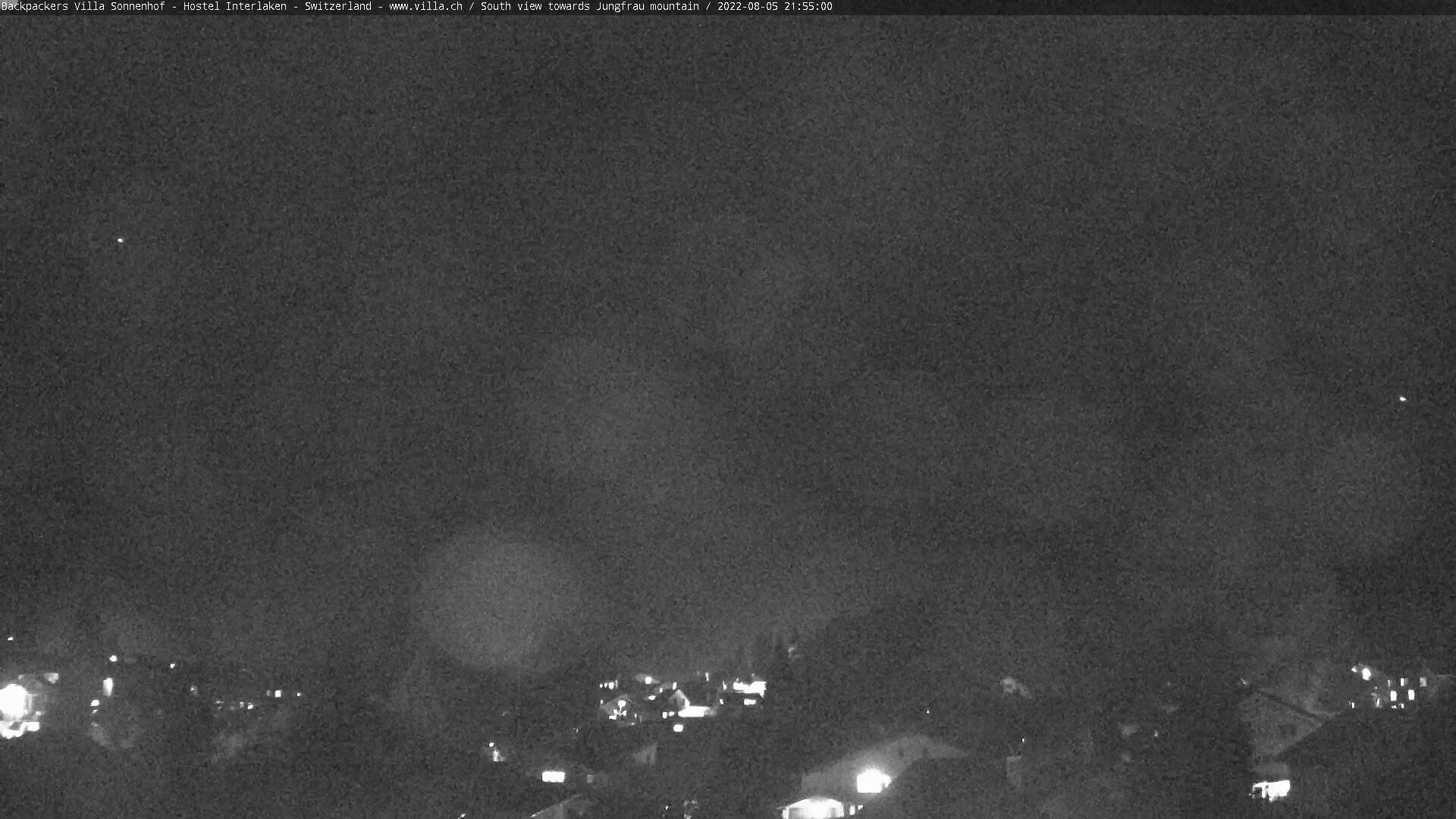 View from Backpackers Villa's top floor towards Mount Jungfrau